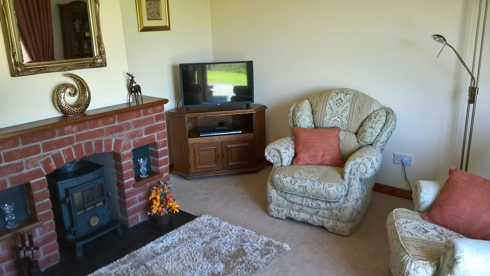 Drainbyrion Farm Woodburner in the Lounge Self Catering Accommodation