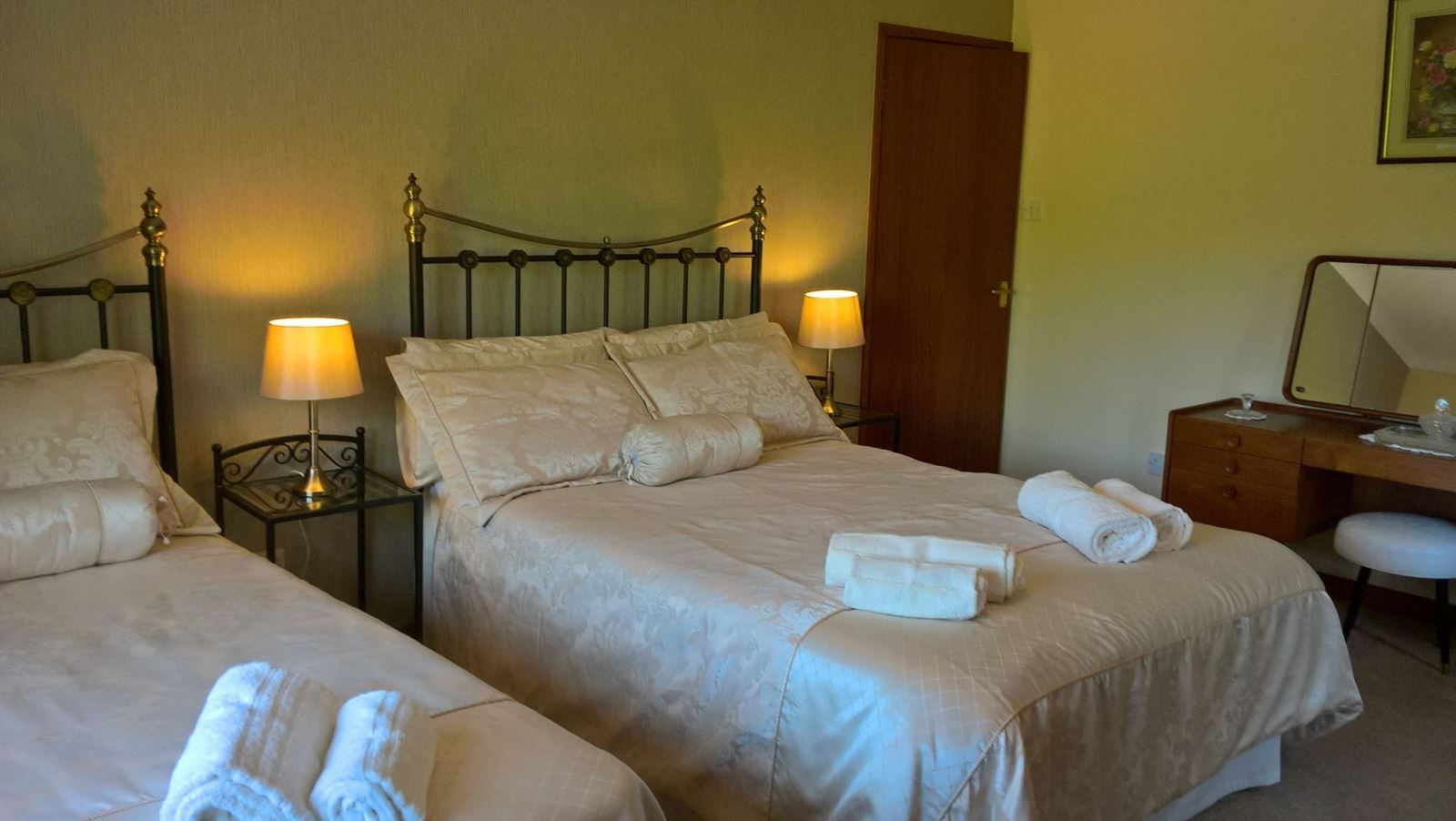 Double Bed and Single Bed Family Room Self Catering Mid Wales